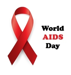 red ribbon - AIDS vector image