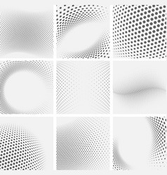 set dotted abstract forms vector image