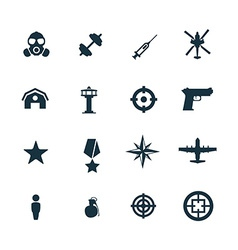 set of army icons vector image