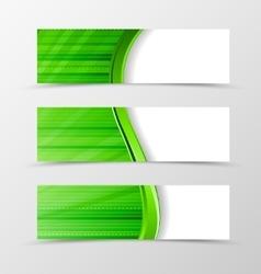 Set of banner wave design vector