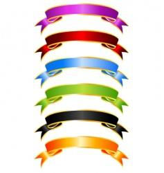 silky ribbons vector image