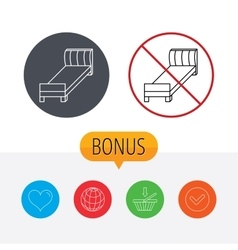 Single bed icon Bedroom furniture sign vector image