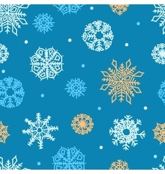 snowflakes seamless ornament vector image