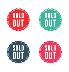 Sold out sticker labels vector