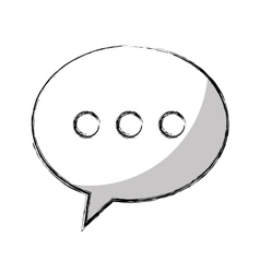 Speech bubble chat isolated icon vector