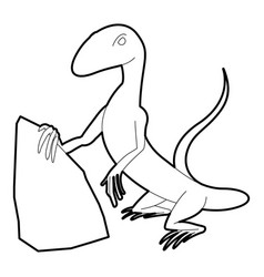 standing lizard icon outline style vector image