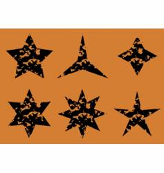 stars set on orange background vector image