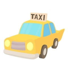Taxi icon cartoon style vector