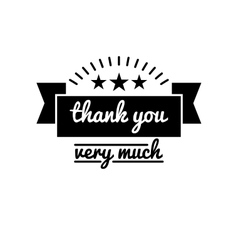 Thank you vintage badge label vector
