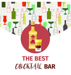 The best cocktail bar banner vector
