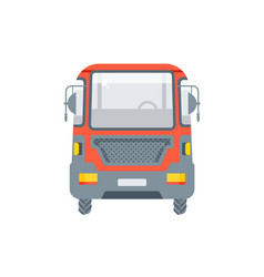 truck for oil petrol front view vector image