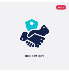 Two color cooperation icon from gdpr concept vector