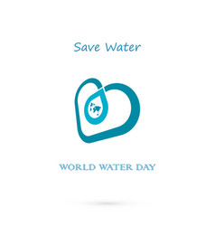 water drop with world icon logo design vector image