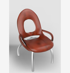wooden chair on curved legs vector image