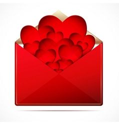 A love letter with a hearts image vector image vector image