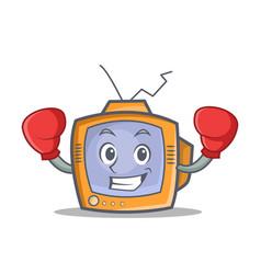 Boxing tv character cartoon object vector
