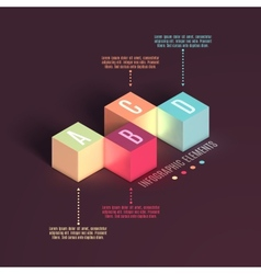 Business Infographics cube vector image