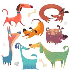 cartoon dogs set vector image