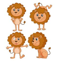 Cartoon lions vector image vector image