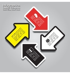 Infographic report template with arrows and text vector image vector image
