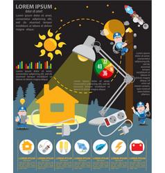 infographics energetics energy industry vector image