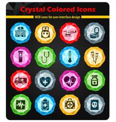 medicine icon set vector image
