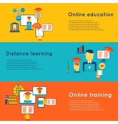 Online Education Banners Set vector image vector image