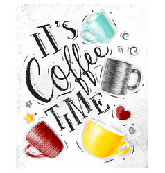 poster coffee time vector image vector image