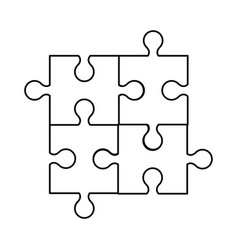 puzzle jigsaw innovation idea outline vector image vector image