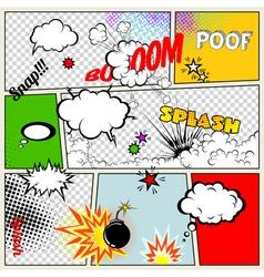 Retro Comic Speech Bubbles vector image vector image