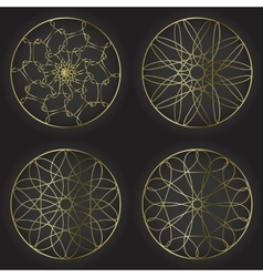 Round decorative frames set Collection of circle vector image vector image