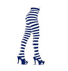 Woman in leggings with stripes vector