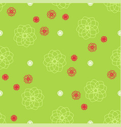 abstract green seamless pattern for banner vector image vector image