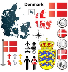 Denmark map vector image