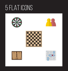 flat icon play set of people dice arrow and vector image