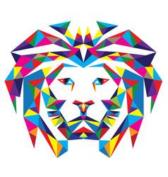 Head Lion Polygonal vector image