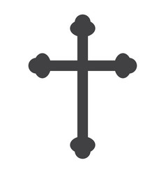religion cross glyph icon easter and holiday vector image