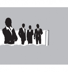 ripped paper people vector image vector image