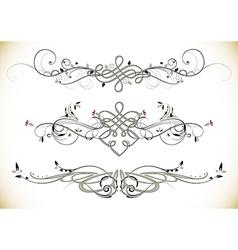 Swirl Floral Vintage Ornaments Decoration vector image