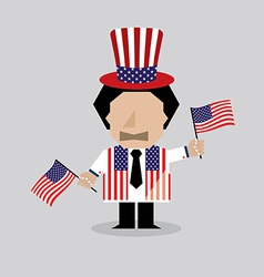 American man vector