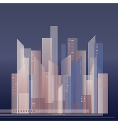 colorful of abstract city vector image