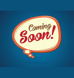 coming soon text in balloons vector image