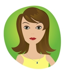 cute of beautiful young girl avatar vector image