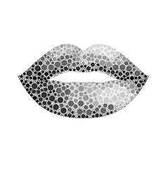 glamour lips vector image