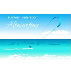 kitesurfing summer watersport concept vector image