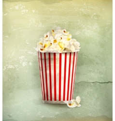 Popcorn old-style vector image vector image