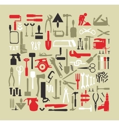 Set building tools vector image