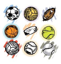 sports balls vector image