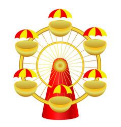 cartoon ferris wheel vector image