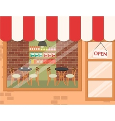 Coffee shop background vector image vector image